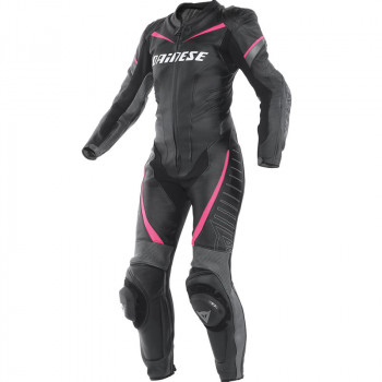 Мотокомбинезон женский Dainese Racing Black-Anthracite-Pink 40