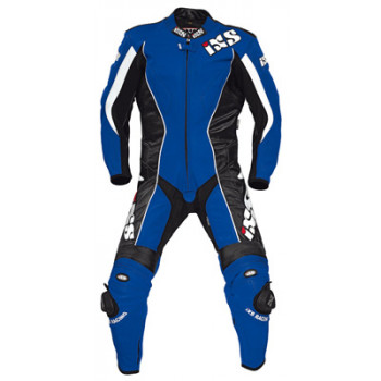 Мотокомбинезон кожаный IXS Gainer Blue-Black-White 50