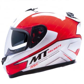 Мотошлем MT Blade SV Boss White-Red L