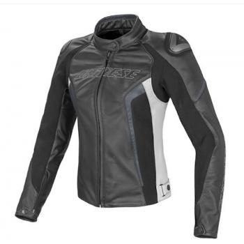 Мотокуртка женская Dainese Racing D1 Black-White-Anthracite 42