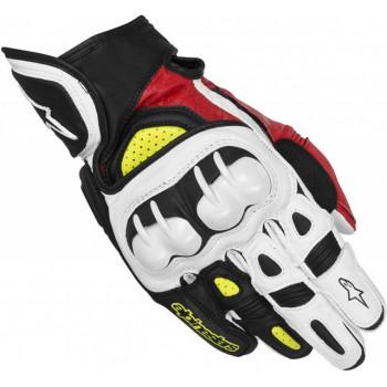 Мотоперчатки кожаные Alpinestars GPX Black-Red-Yellow S