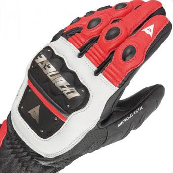 Мотоперчатки кожаные Dainese 4 Stroke White-Red-Black S