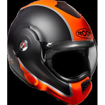 Мотошлем ROOF Desmo Flash Black Matt-Orange XL