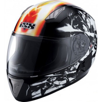 Мотошлем IXS HX 1000 Fire Black-Orange White XS