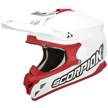 Мотошлем Scorpion VX-15 Evo Air White-Red 2XL
