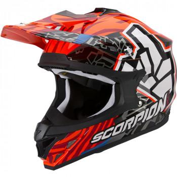Мотошлем Scorpion VX-15 Evo Air Rok Bagoros Neon-Orange M