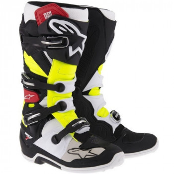 Мотоботы Alpinestars Tech 7 Black-Red-Yellow 42 (8)