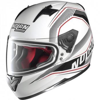 Мотошлем Nolan N64 Swerve 081 White-Grey-Red M
