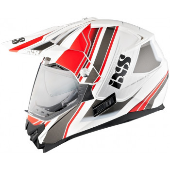 Мотошлем IXS HX 207 Atlas White-Red-Grey M