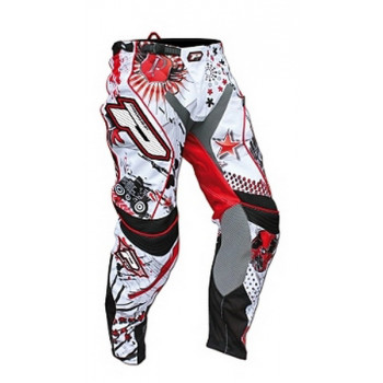 Мотобрюки ProGrip Dollars White-Red-Black 36