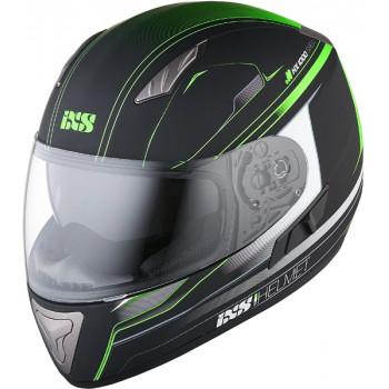 Мотошлем IXS HX 1000 Fork Black-Green Matt XL