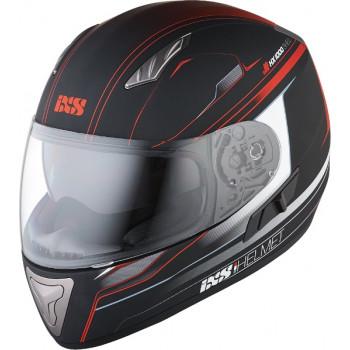 Мотошлем IXS HX 1000 Fork Black-Red Matt S