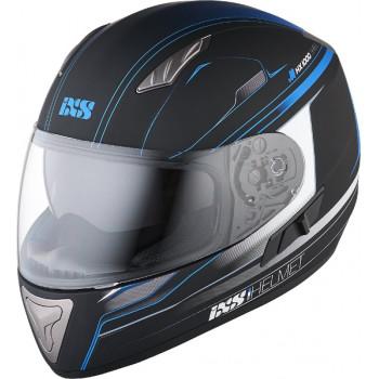 Мотошлем IXS HX 1000 Fork Black-Blue Matt M