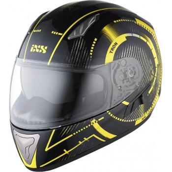 Мотошлем IXS HX 1000 Tron Black-Yellow-Grey XL