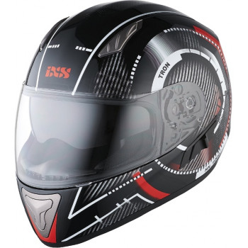 Мотошлем IXS HX 1000 Tron Black-Red-Grey L