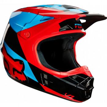 Мотошлем FOX V1 Mako Helmet Ece Blue-Red 2XL