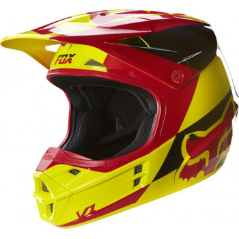 Мотошлем FOX V1 Mako Helmet Ece Yellow XL