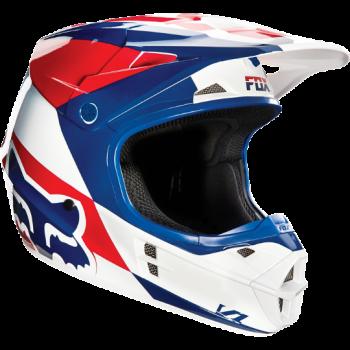 Мотошлем Fox V1 Mako Helmet Ece White-Blue XS