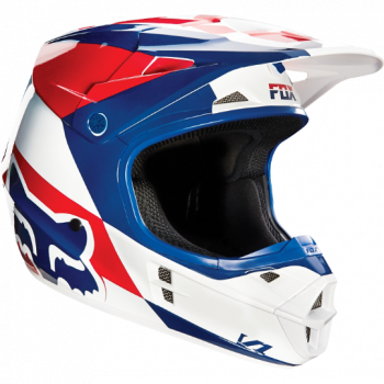 Мотошлем Fox V1 Mako Helmet Ece White-Blue M