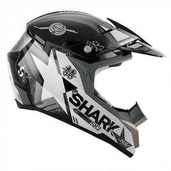 Мотошлем SHARK SX2 Wacken Black-White-Grey L