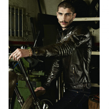 фото 3 Мотокуртки Мотокуртка кожаная Segura Iron Black 3XL