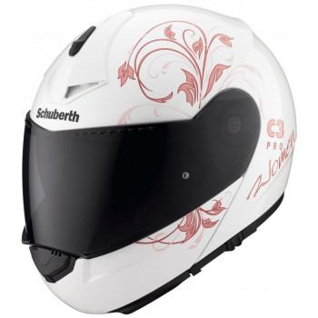 Мотошлем женский Schuberth C3 Pro Euphoria Light White-Purple 2XS