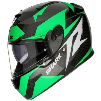 Мотошлем Shark Speed-R 2 Carbon Run Black-White-Green S