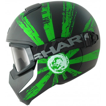 Мотошлем Shark Vancore RYU Black-Green XL