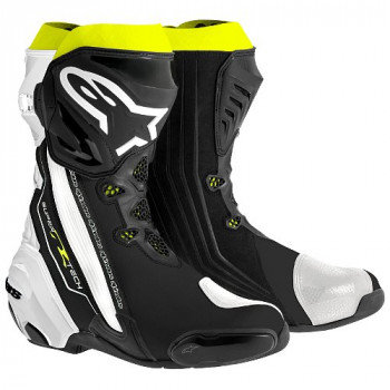Мотоботы Alpinestars Supertech R Black-White-Yellow 42 (2015)