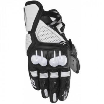 Мотоперчатки кожаные Alpinestars S-1 Black-White 2XL