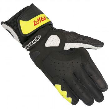 фото 2 Мотоперчатки Мотоперчатки кожаные Alpinestars SP Air Black-White-Yellow L (2016)