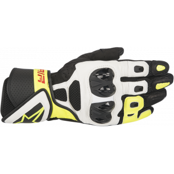 Мотоперчатки кожаные Alpinestars SP Air Black-White-Yellow M (2016)