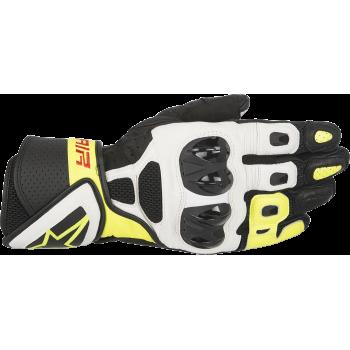 Мотоперчатки кожаные Alpinestars SP Air Black-White-Yellow S (2016)