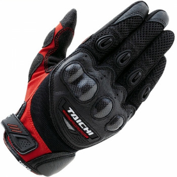 Мотоперчатки кожаные RS-Taichi Velocity Mesh Black-Red L