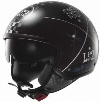Мотошлем LS2 OF561 Wave Greatest Black XS
