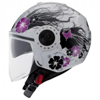Мотошлем Caberg Riviera V3 Diva White-Silver M