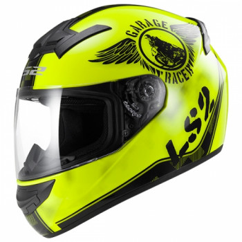 Мотошлем LS2 FF352 Rookie Fan Hi-Viz Yellow XS