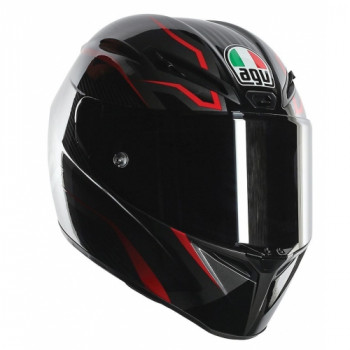 Мотошлем AGV GT-Veloce Multi TXT Black-Grey-Red XL