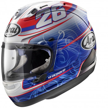 Мотошлем Arai RX-7V Pedrosa White-Red-Blue L