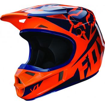 Мотошлем детский Fox V1 Race Orange-Blue YS