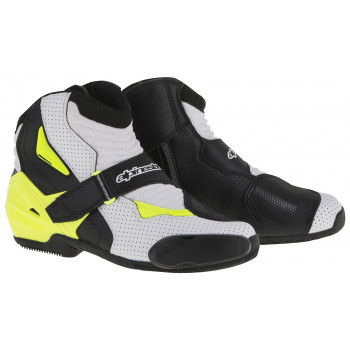 Мотоботы Alpinestars S-MX 1 R Vented Black-White-Yellow 41 (2016)