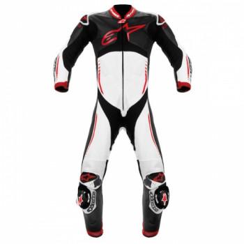 Мотокомбинезон кожаный Alpinestars Atem Black-White-Red 52