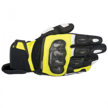 Мотоперчатки кожаные Alpinestars SP-X Air Carbon Black-Yellow M (2016)