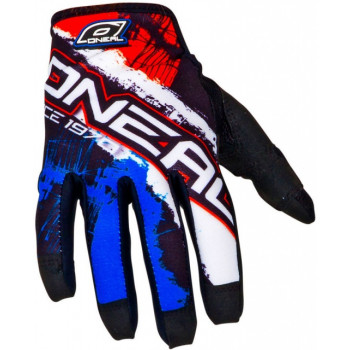 Мотоперчатки Oneal Jump Shocker Black-Blue-Red XL
