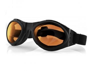 bobster Мотоочки Bobster Bugeye Black Amber Lens