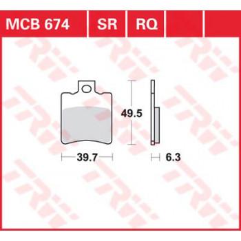 Колодки дискового тормоза LUCAS MCB674