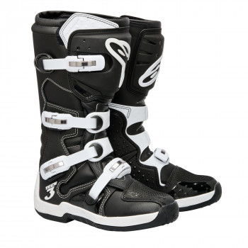 Мотоботы Alpinestars Tech 3 Black-White 9.0