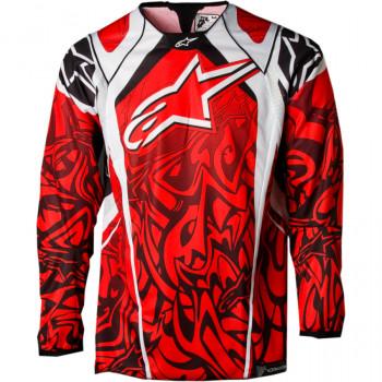 Кроссовая футболка (джерси) Alpinestars Techstar Red-White-Grey XL