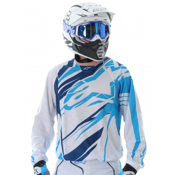 Кроссовая футболка (джерси) Alpinestars Techstar White-Blue XXL