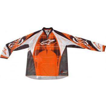 Кроссовая футболка (джерси) Alpinestars Techstar Orange-White-Grey XL